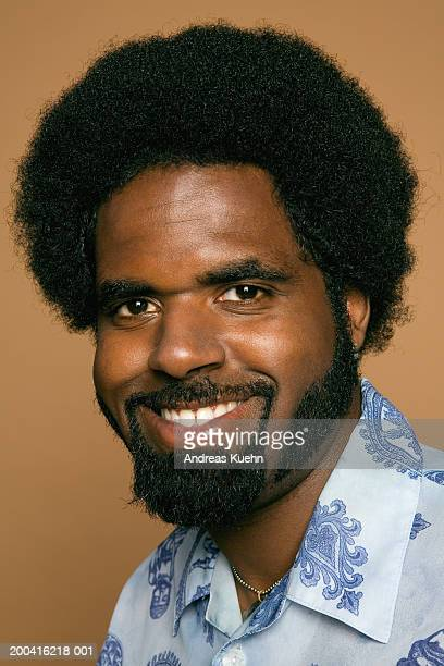 man smiling, portrait, close-up - goatee stock pictures, royalty-free photos & images
