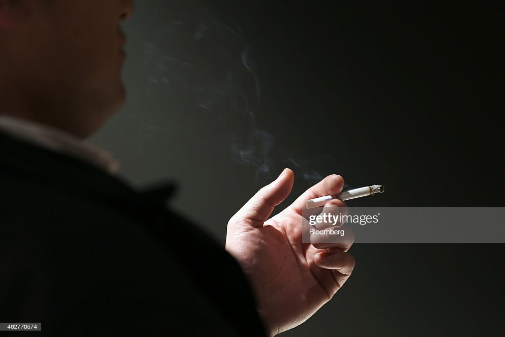 Tobacco Products And Smokers As Japan Tobacco Inc. Announces Earnings : News Photo