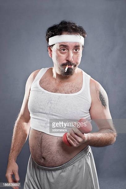 Fat Guy Smoking Stock Photos And Pictures Getty Images