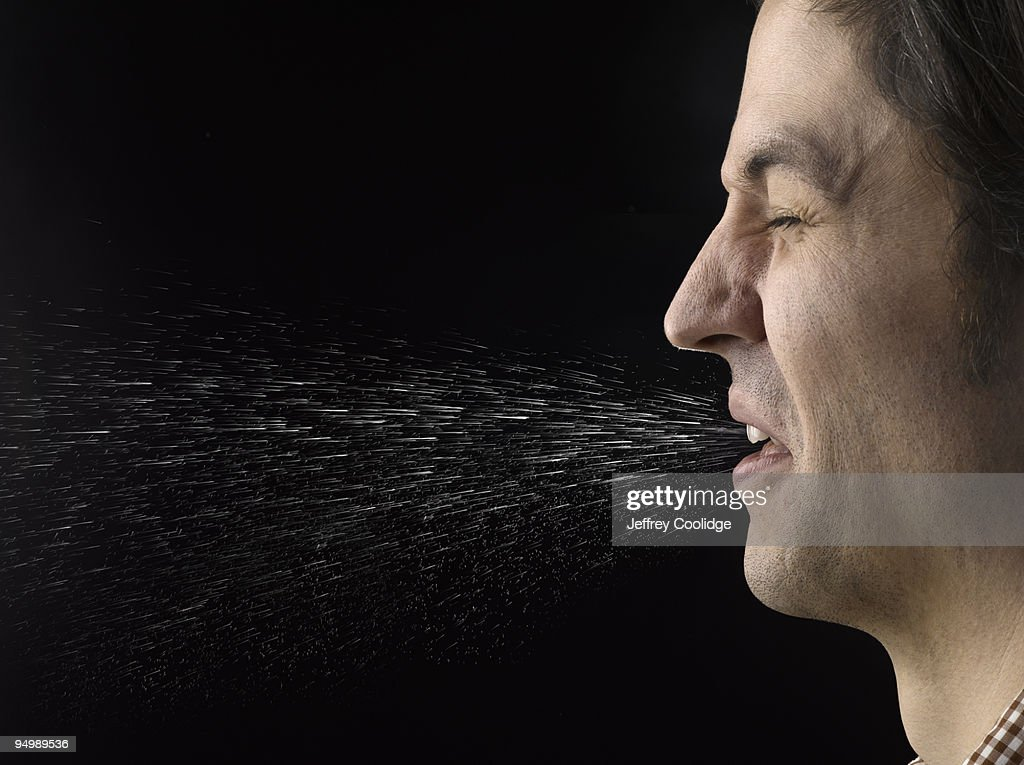 Man Sneezing : Stock Photo