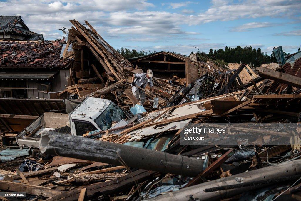 Typhoon Hagibis Hits Japan : News Photo