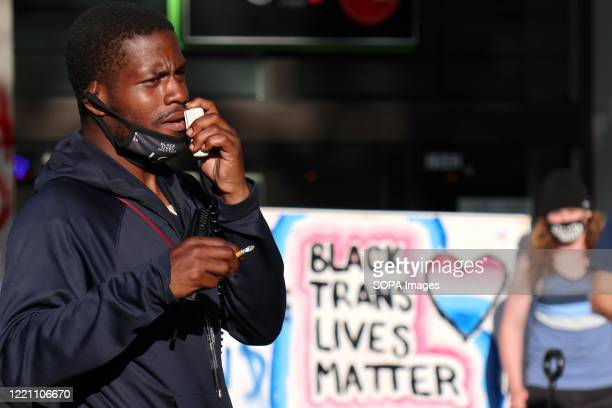 Man speaks on a megaphone in the so-called Capitol Hill Autonomous Zone. An area in Seattle's Capitol Hill neighbourhood has become known variously...