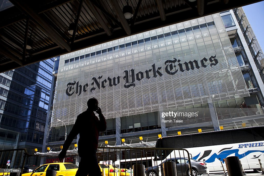 New York Times' Quarterly Profits Falls 58 Percent : News Photo