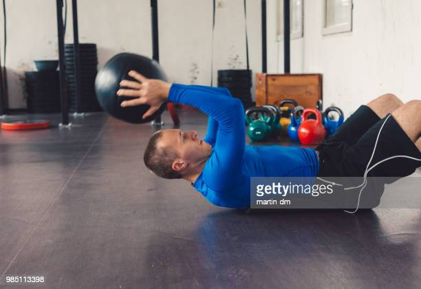 man sport - circuit training stock photos and pictures