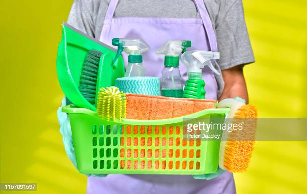 man spring cleaning - cleaning agent stock pictures, royalty-free photos & images