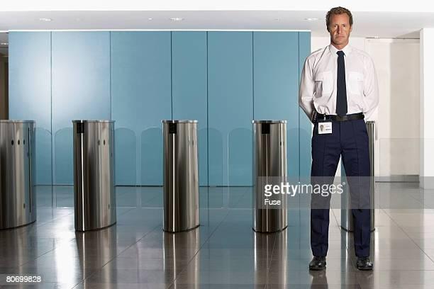 Man Standing Guard