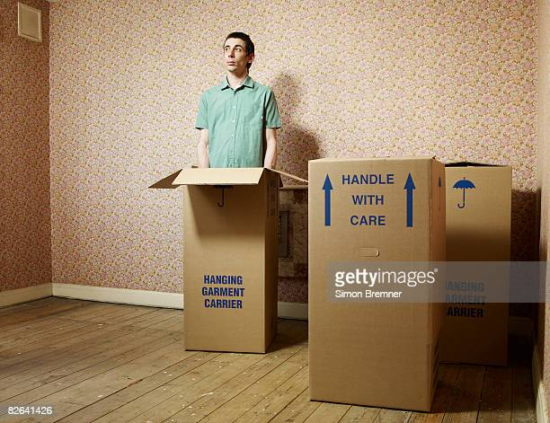 Man standing in box