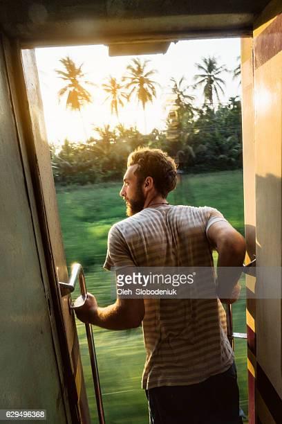 Man standing in the train door
