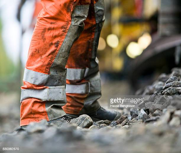 Man standing on construction site