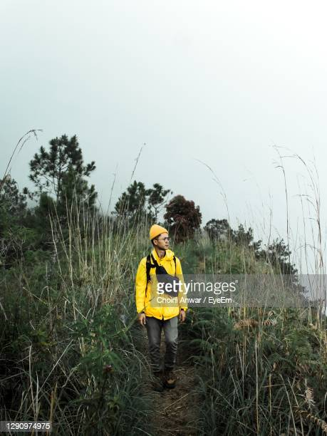 man standing on field against sky - folk music stock pictures, royalty-free photos & images
