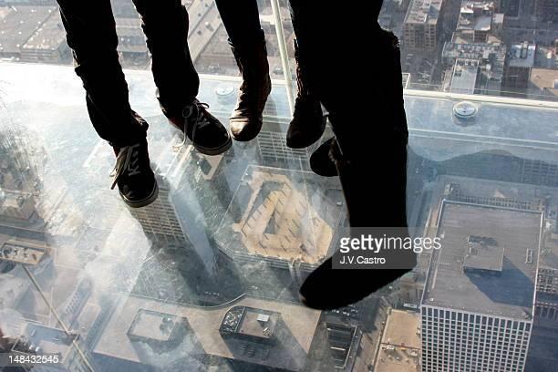 Man standing on Willis tower