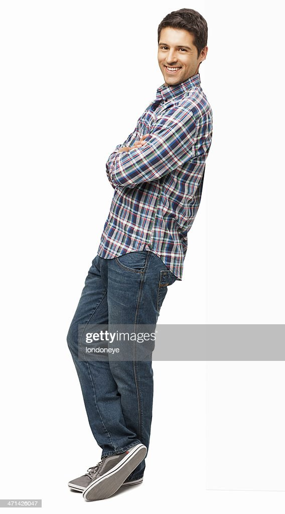 Man Standing With Arms Crossed - Isolated : Stock Photo