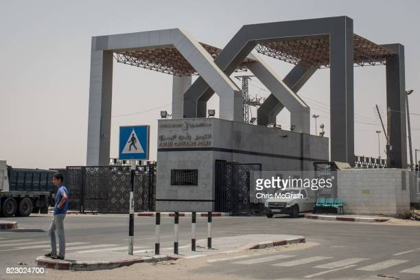 A man stands in front of the closed Rafah border crossing on July 24 2017 in Rafah Gaza The Rafah crossing was last opened in March 2017 For the past...