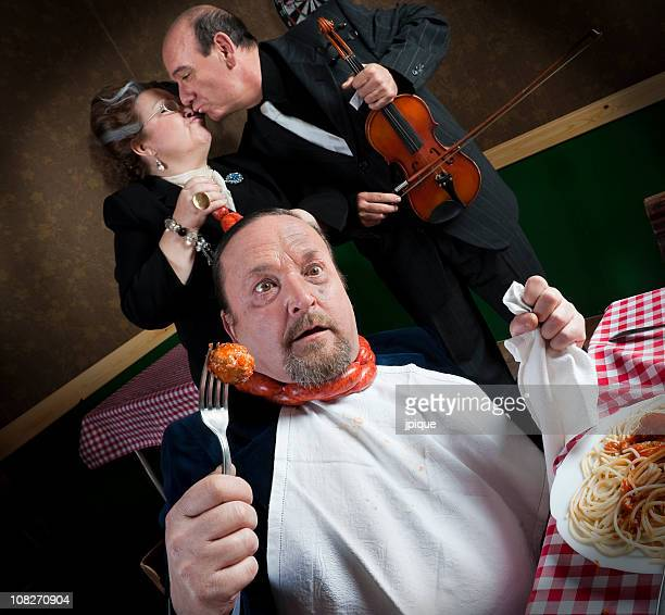 man strangled by his wife - cheating wives photos stock photos and pictures
