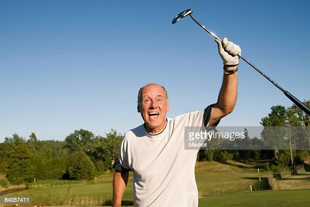 man succeed in golf - golf lustig stock-fotos und bilder
