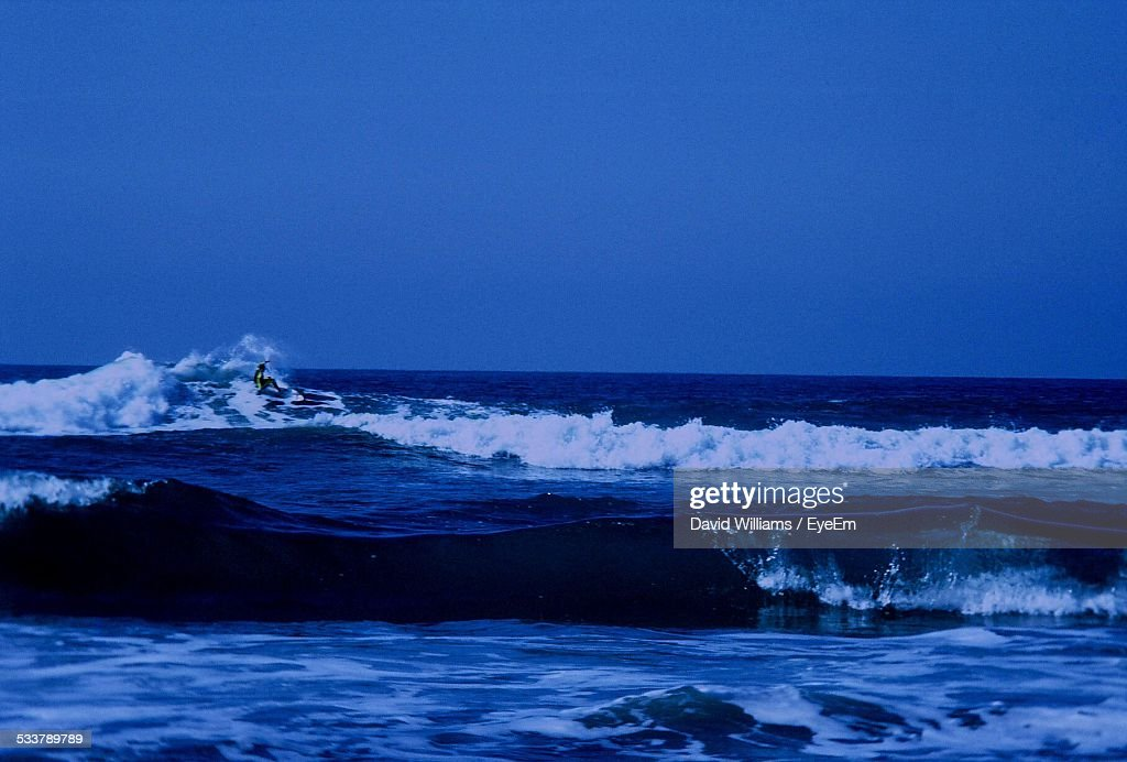 Man Surfing In Sea : Stock Photo