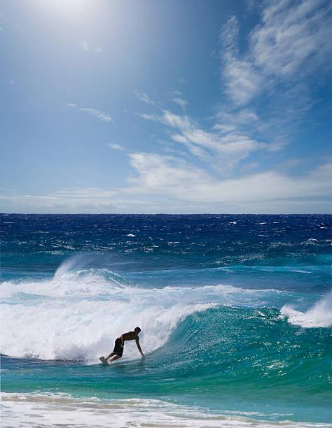 Man surfing on beach