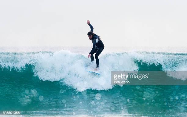 Man surfing, Tarifa, Costa de la Luz, Cadiz, Andalusia, Spain