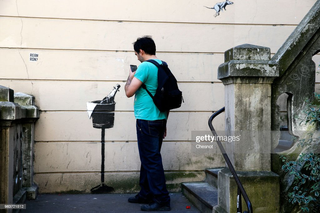 British Graffiti Artist Banksy Puts Up  New Works In Paris