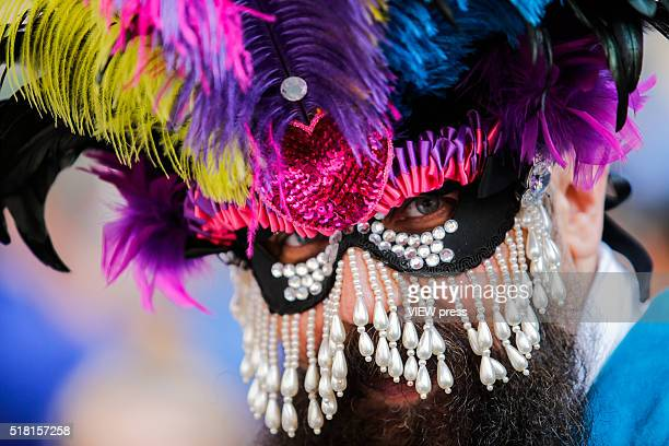 A man takes part during the annual easter parade in Manhattan New York This annual tradition has been taking place in New York City for over 100 years