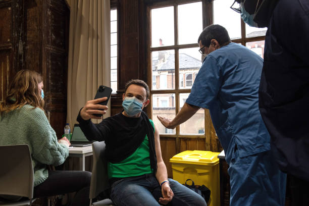 GBR: Battersea Arts Centre Hosts Covid-19 Vaccination Site