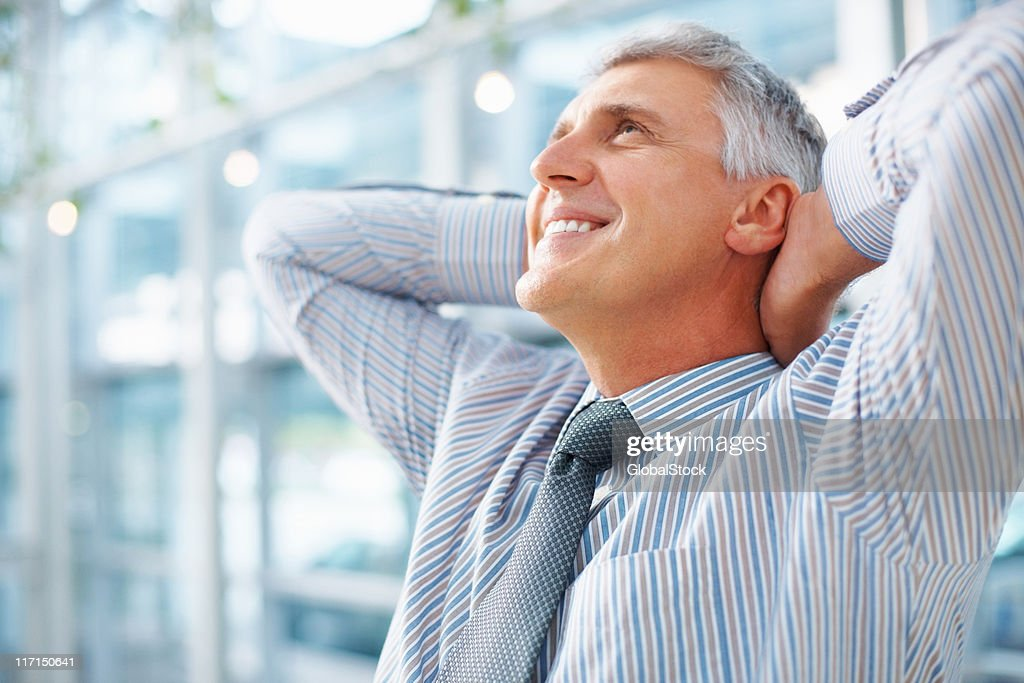 Man taking break after work : Stock Photo