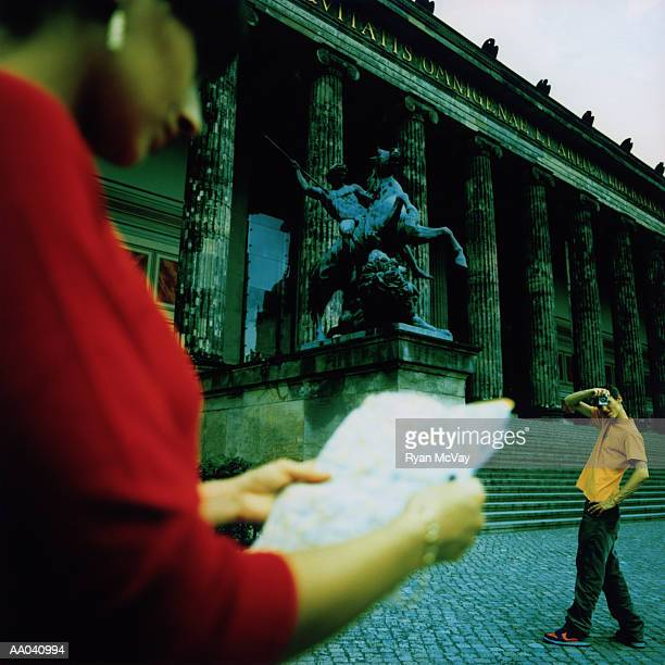 Man Taking Picture at Altes Museum, Berlin