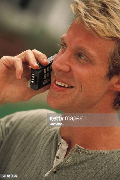 Man talking on cell phone outdoor
