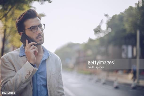Man talks on mobile