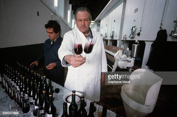 Man Tasting Wine in a Port Winery