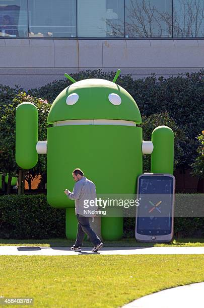 man texting by Google Android
