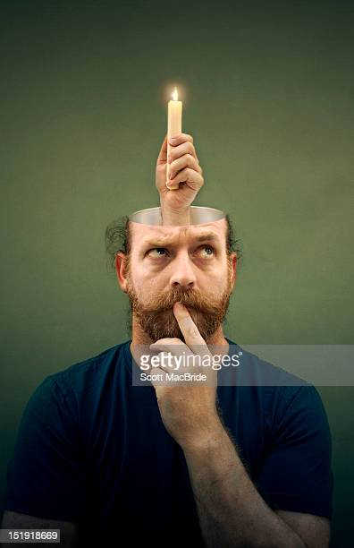 man thinking - scott macbride stock pictures, royalty-free photos & images