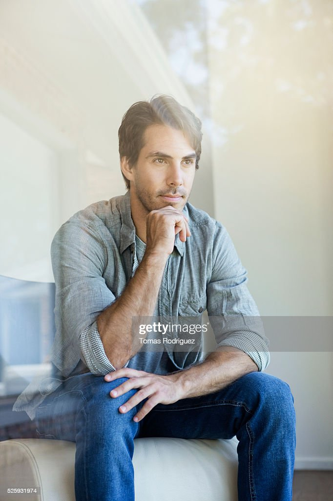 Man thinking : Stock Photo