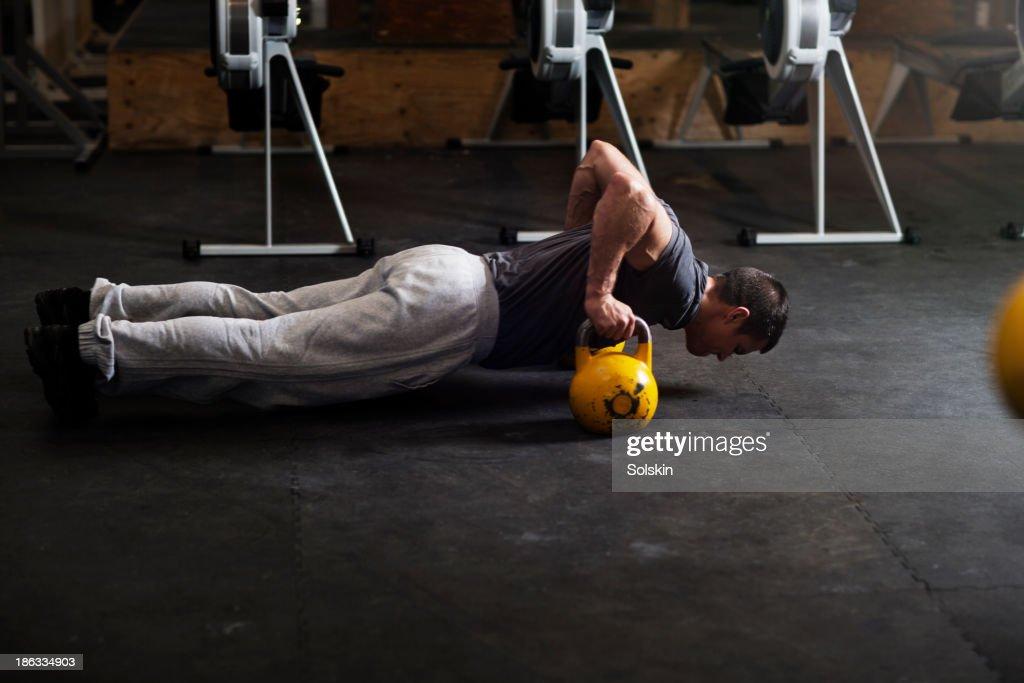 Man training in Gym gym : Stock Photo