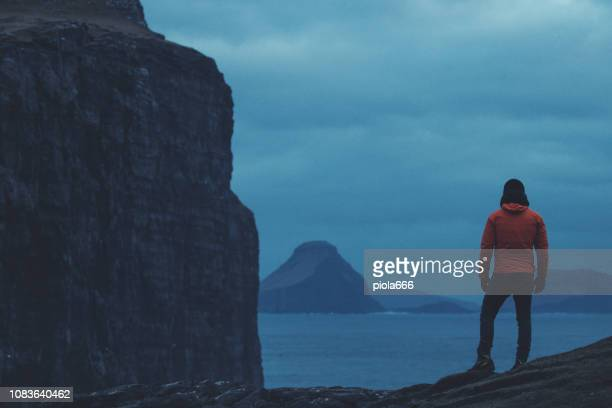 Man travel adventures: hiking at Faroe Islands
