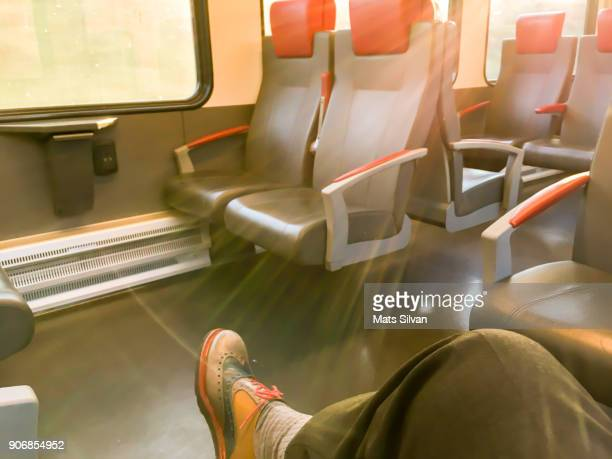 Man Travel in a Train