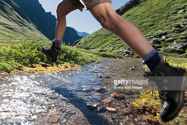 Man trekking in mountain