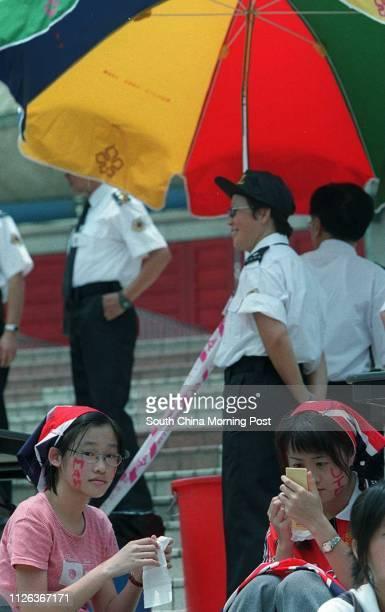 Man U fans at HK Stadium look the matchscmp/dw