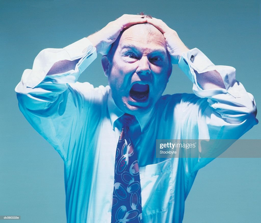 Man under Pressure : Stock Photo