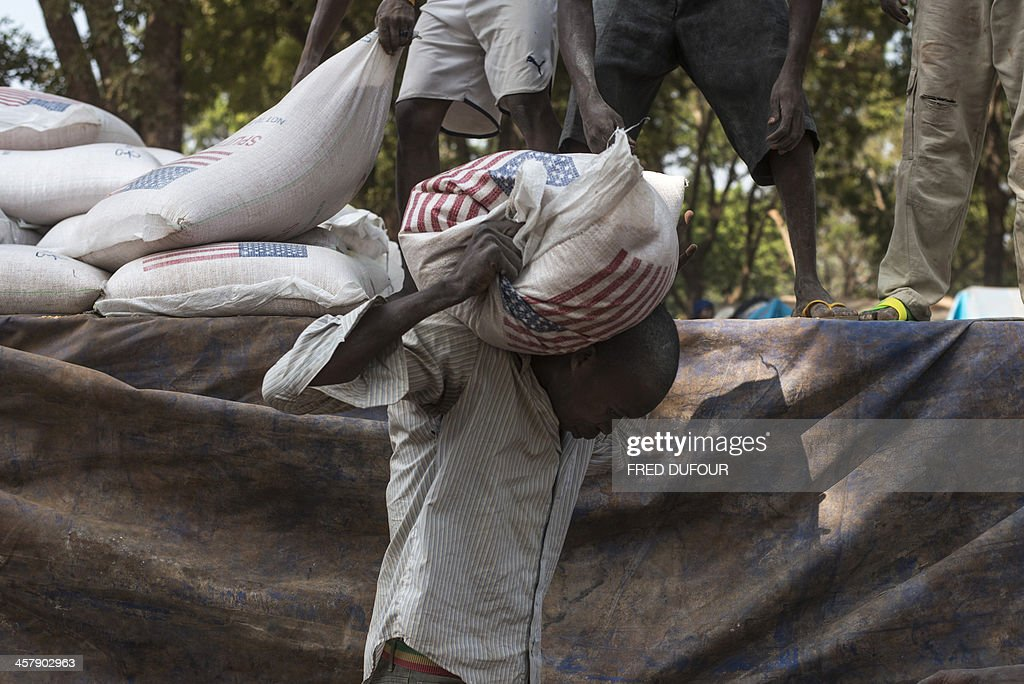 CENTRAFRICA-UNREST-US-AID : News Photo