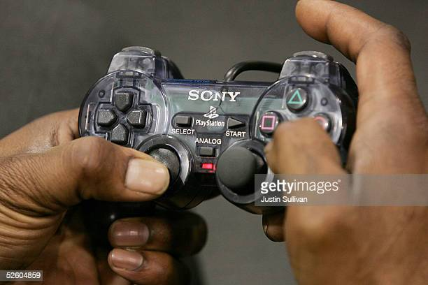 A man uses a controller to play video games at a Best Buy store April 8 2005 in San Francisco California Nielsen Entertainment said on Thursday that...