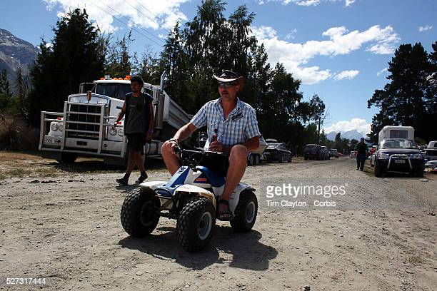 A man uses a small quad bike during the 50th Anniversary Glenorchy Race meeting The races which originally started in the 1920's were resurrected in...