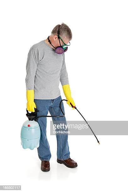 Man Using a Chemical Sprayer