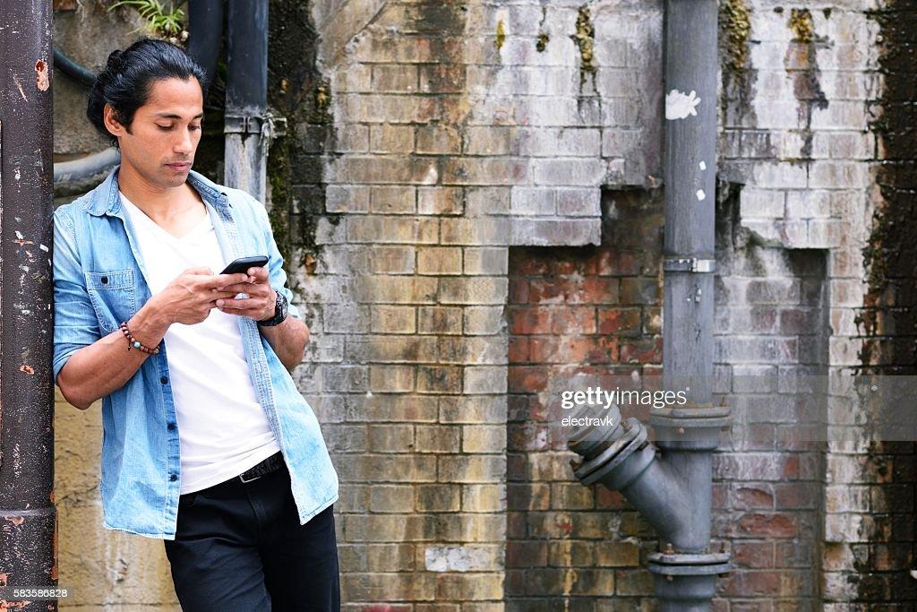 Man using a phone : Stock Photo