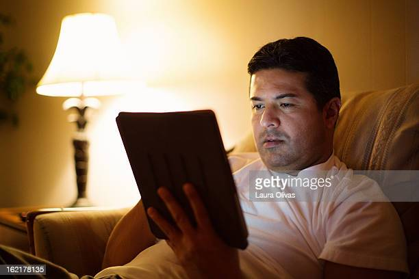 Man Using a Tablet/iPad