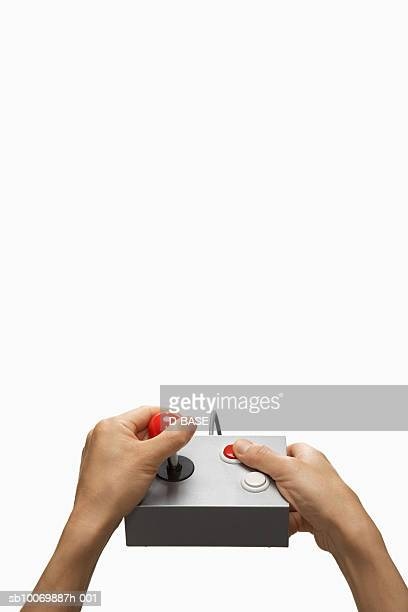 Man using game controller, view of hands
