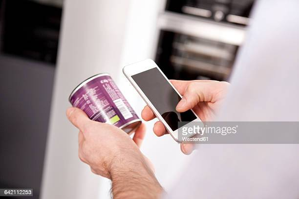 man using smartphone for getting information of a product - bar code stock pictures, royalty-free photos & images