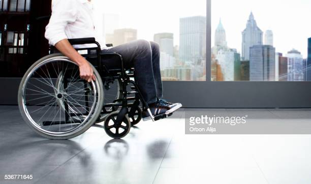 Man using wheel chair