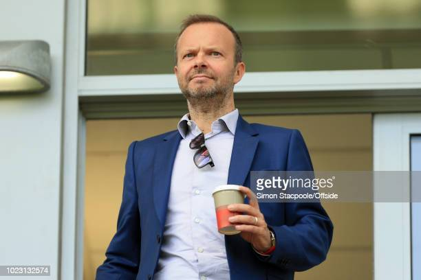 Man Utd Chief Executive Ed Woodward looks on during the FA WSL Continental Tyres Cup match between Manchester United Women and Reading Women at Leigh...
