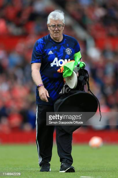 Man Utd kitman Albert Morgan looks on before the Treble Reunion friendly match between the Manchester United '99 Legends and FC Bayern Legends at Old...